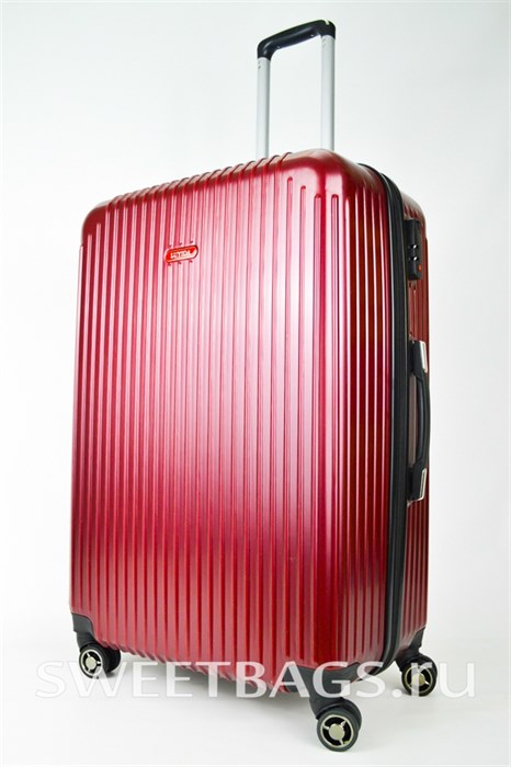 Чемодан большой ABS NL бордовый - фото 25498