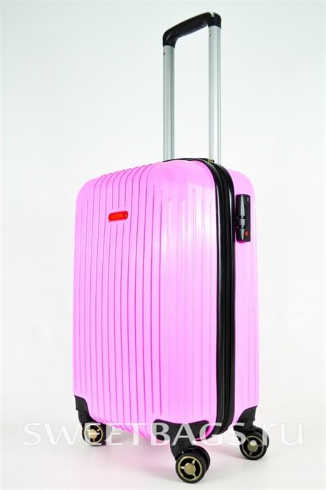 Чемодан маленький ABS NL розовый - фото 25511