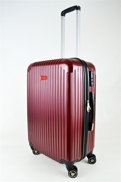 Чемодан средний ABS NL бордовый - фото 25525