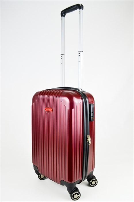 Чемодан маленький ABS NL бордовый - фото 25570