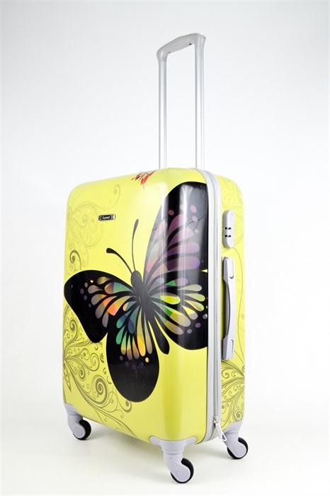 Чемодан средний PC Бабочка желтая - фото 26591