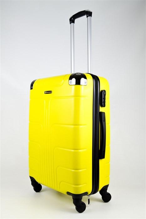 Чемодан средний ABS Корона желтый - фото 26633