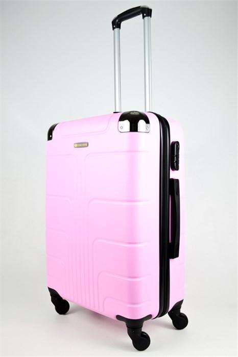 Чемодан средний ABS Корона розовый - фото 26647