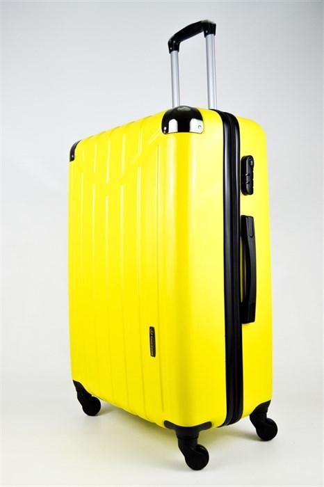 Чемодан большой ABS Корона желтый - фото 26660