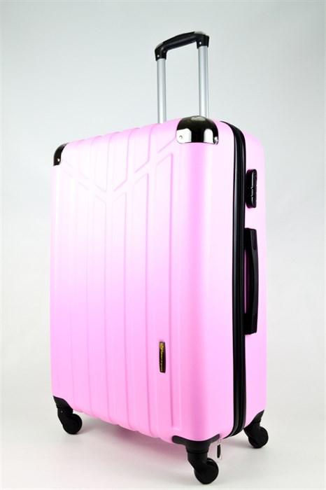 Чемодан большой ABS Корона розовый - фото 26674