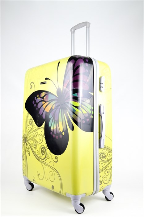 Чемодан большой ABS Бабочка желтая - фото 26716