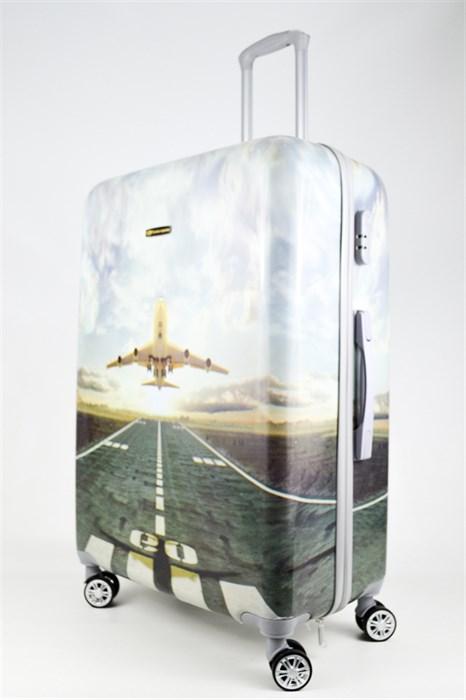 Чемодан большой ABS Корона самолет - фото 26744