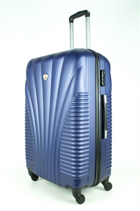 Чемодан большой PC+ABS MAGGIE ракушка темно-синий - фото 27435