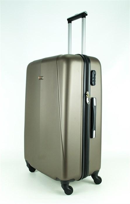 Чемодан большой PC+ABS MAGGIE N2 коричневый - фото 27459