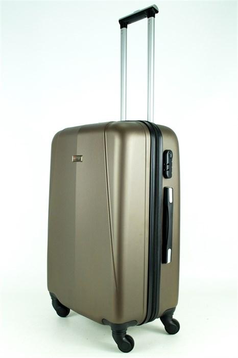 Чемодан средний PC+ABS MAGGIE N2 коричневый - фото 27605