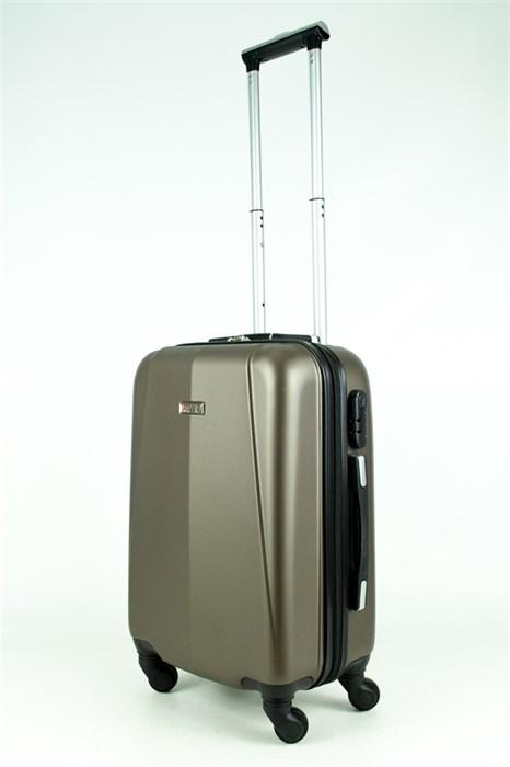 Чемодан маленький PC+ABS MAGGIE N2 коричневый - фото 28532