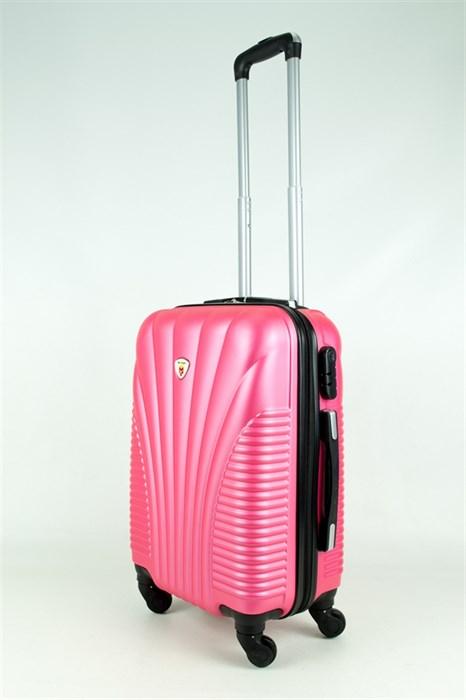Чемодан маленький PC+ABS MAGGIE ракушка розовый - фото 28568