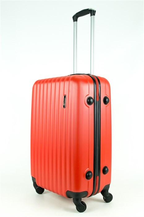 Чемодан средний ABS TT (верт  полоски) красный - фото 28688