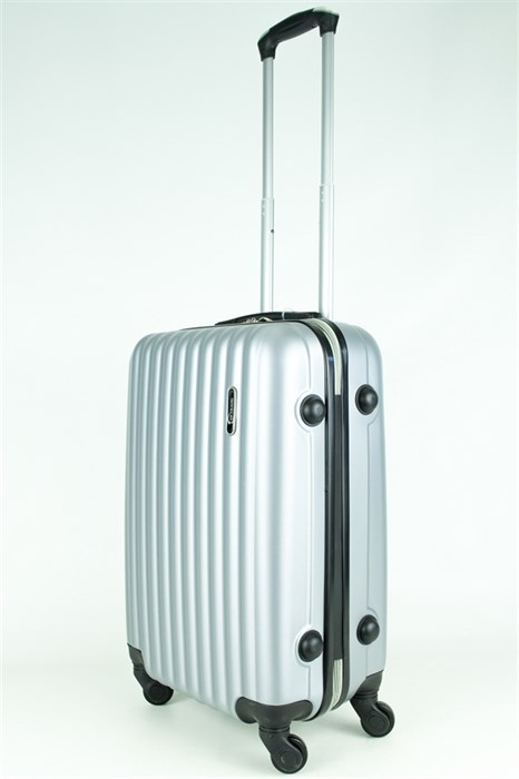 Чемодан маленький ABS TT (верт  полоски) серебро - фото 28846