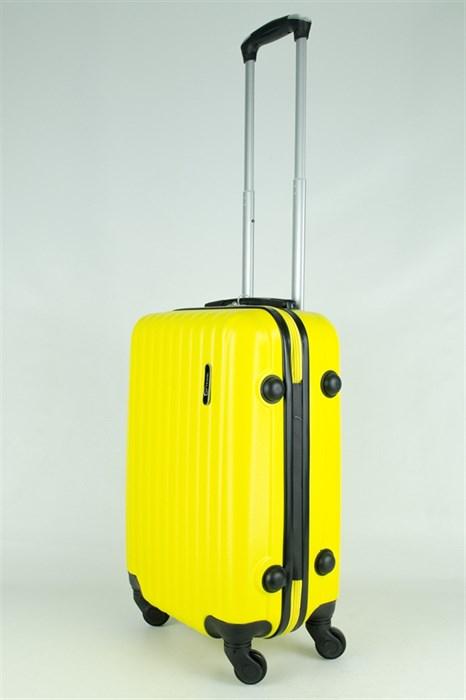 Чемодан маленький ABS TT (верт  полоски) желтый  ЧФ - фото 28882
