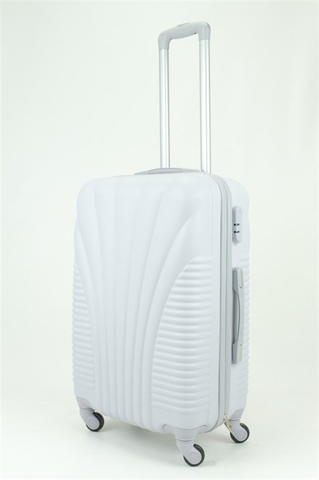 Чемодан средний PC+ABS MAGGIE ракушка серый - фото 29005