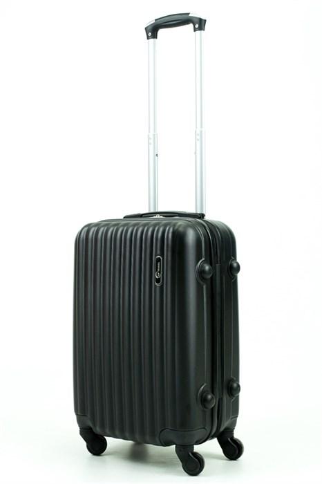 Чемодан маленький ABS TT (верт  полоски) черный - фото 29306