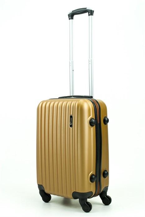 Чемодан маленький ABS TT (верт  полоски) золотой - фото 29320