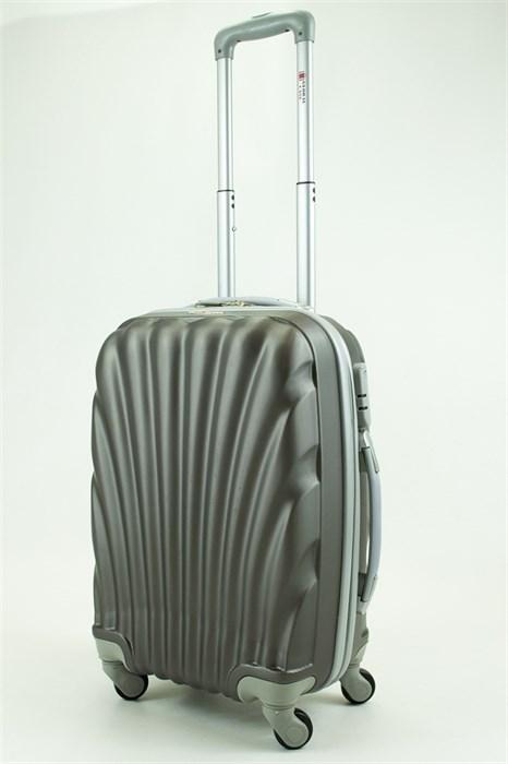 Чемодан маленький ABS GC ракушка серый - фото 29555