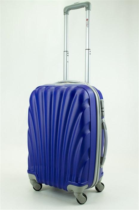 Чемодан маленький ABS GC ракушка синий - фото 29571