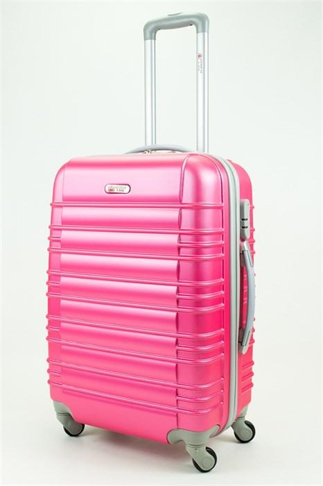 Чемодан средний ABS GC прод  полос  розовый - фото 29602
