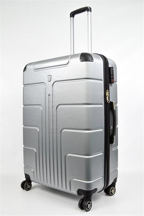 Чемодан большой PC серебро - фото 30007