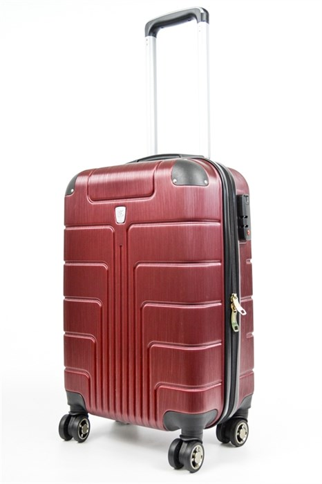 Чемодан маленький PC бордовый (уценка) - фото 30030