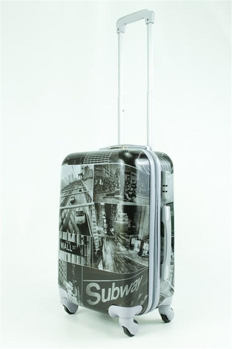 Чемодан маленький ABS Рисунок Subway - фото 30100
