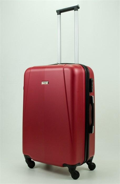 Чемодан средний PC+ABS Maggie бордовый - фото 30828