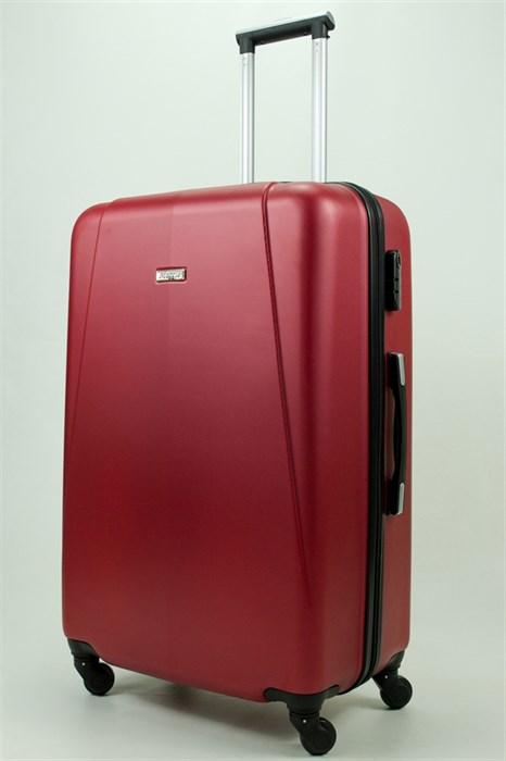 Чемодан большой PC+ABS Maggie бордовый - фото 30858