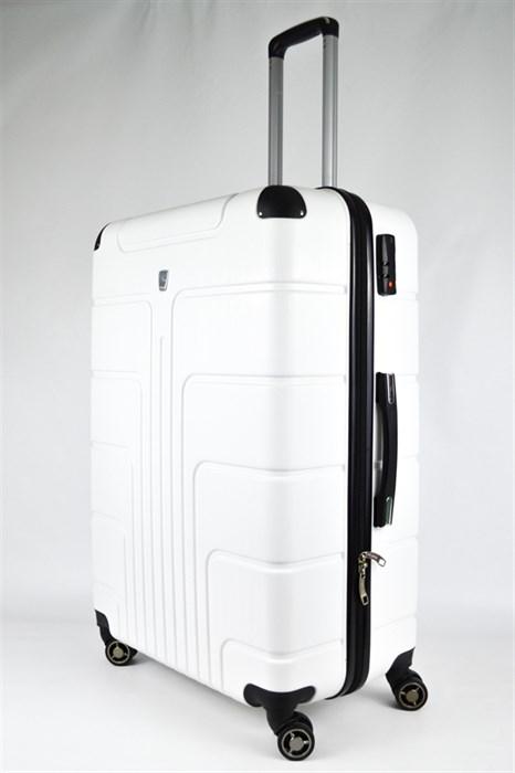 Чемодан большой PC белый - фото 31149