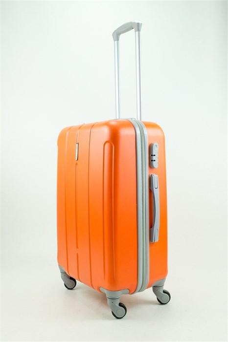 Чемодан средний ABS KK (три полоски) оранжевый - фото 31327