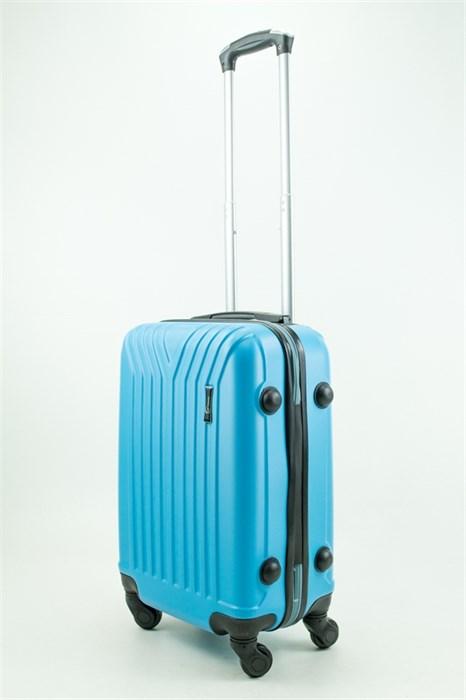 Чемодан маленький ABS TT (У-образный) голубой - фото 31342