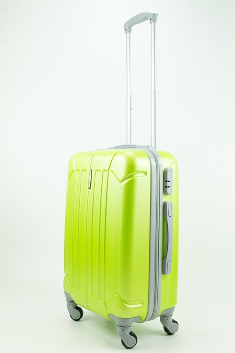 Чемодан маленький ABS KK верт  полоски  зеленый - фото 31372