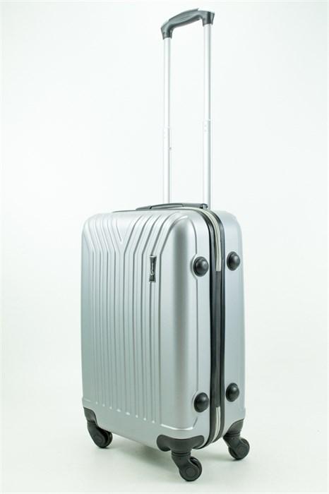 Чемодан маленький ABS TT (У-образный) серебро - фото 31517