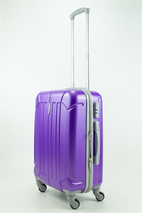 Чемодан маленький ABS KK (три полоски) фиолетовый - фото 31536