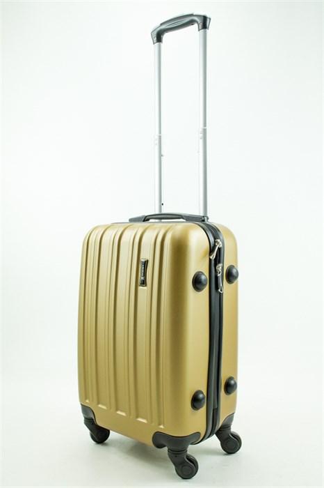 Чемодан маленький ABS Journey (верт  полоски) золото - фото 31548