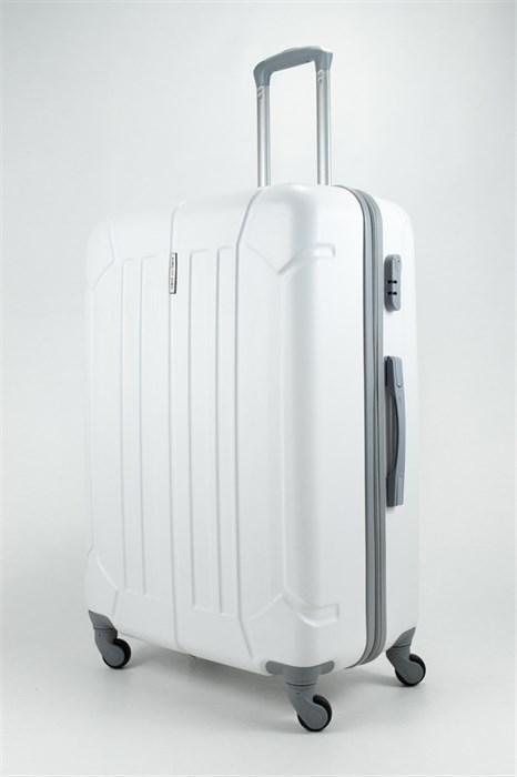 Чемодан большой ABS KK белый - фото 31790