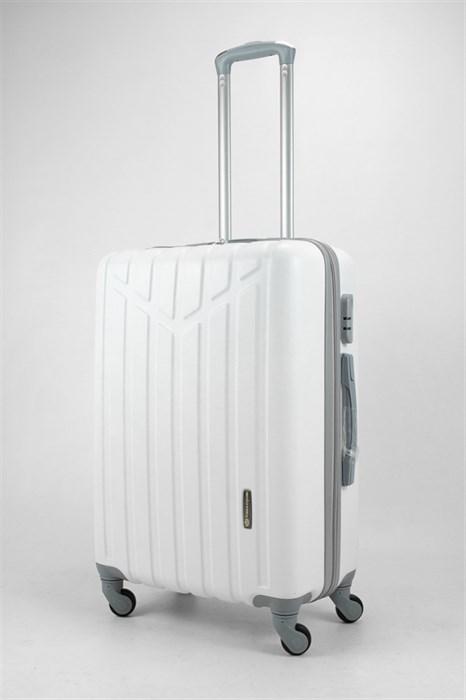 Чемодан средний ABS Слава Корона белый - фото 31836