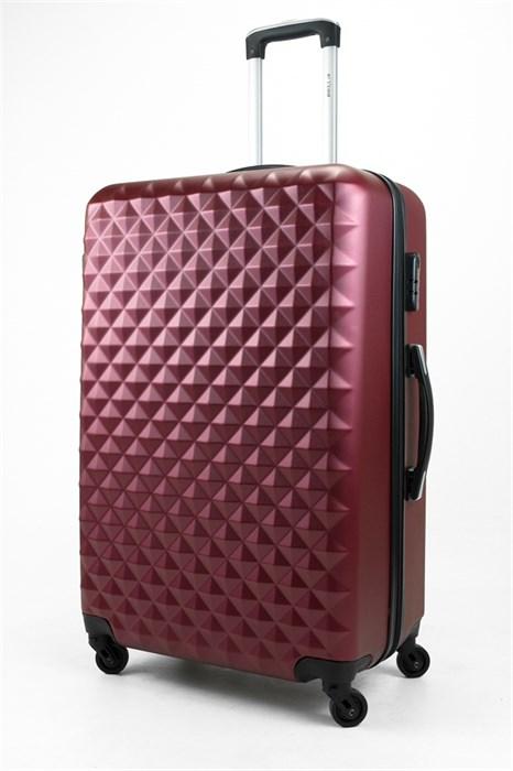 Чемодан большой ABS Lcase (съемн  колеса) бордовый - фото 31848