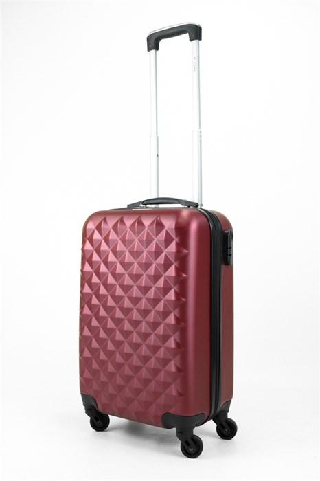 Чемодан маленький ABS Lcase (съемн  колеса) бордовый - фото 31862