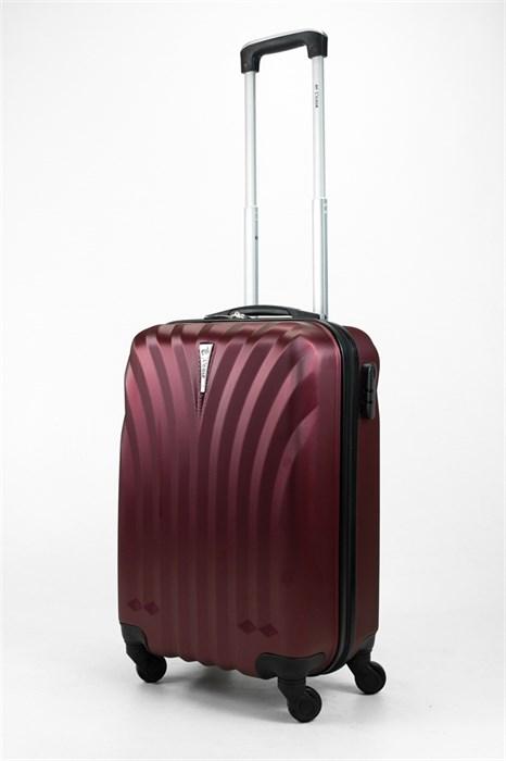 Чемодан маленький ABS Lcase бордовый - фото 31890