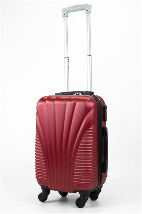 Чемодан маленький ABS Hossoni (ракушка) бордовый - фото 31933