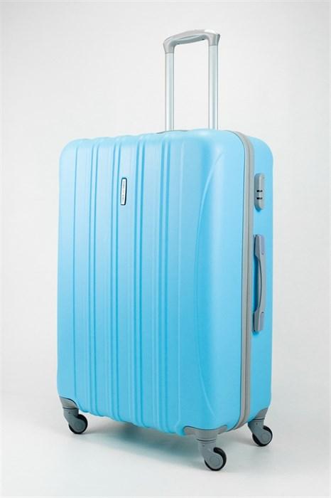 Чемодан большой ABS KK голубой - фото 31948