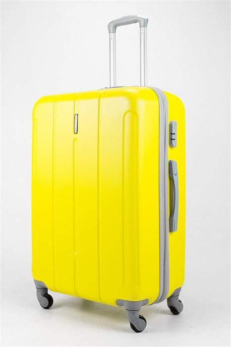 Чемодан большой ABS KK верт  полос  желтый - фото 32205