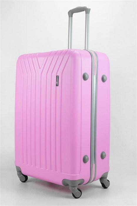 Чемодан большой ABS TT (У-образный) розовый - фото 32466