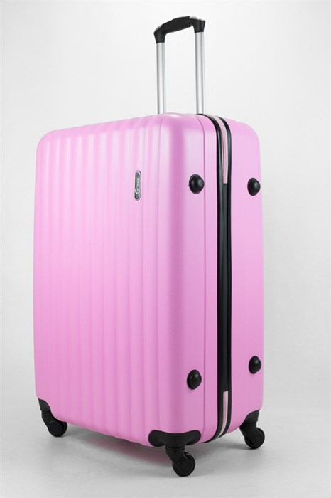 Чемодан большой ABS TT (верт  полоски) розовый - фото 32540