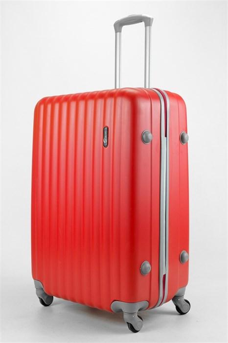Чемодан большой ABS TT (верт  полоски) красный - фото 32841