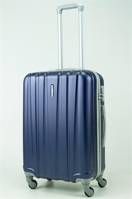 Чемодан средний ABS KK 6 полос  темно-синий (С) - фото 33425