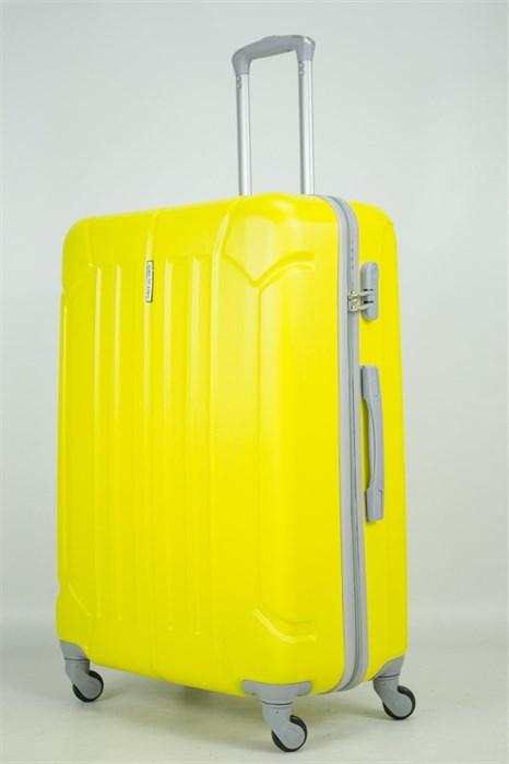Чемодан большой ABS KK (жук) желтый - фото 33638